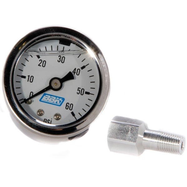 Liquid Filled Fuel Pressure Gauge & Adapter