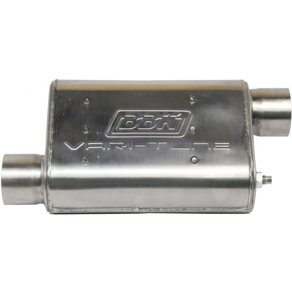 2-1/2 Varitune Adjustable Muffler Double Offset (Stainless)