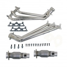 Camaro V6 1-5/8 In. Long Tube Headers W/Cats - Chrome (10-11)