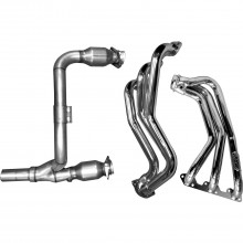 Jeep Wrangler 3.8 Long Tube Headers w/ Cats - Chrome (07-11)